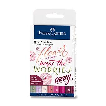 Obrázek produktu Popisovač Faber-Castell Pitt Artist Pen Hand Lettering - sada 8 ks, růžové barvy