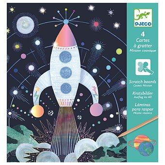 Obrázek produktu Vyškrabávací obrázky Djeco - Vesmírná mise