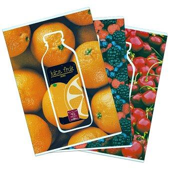 Obrázek produktu Školní sešit Pigna Fruits - A4, čtverečkovaný, 40 listů, mix motivů