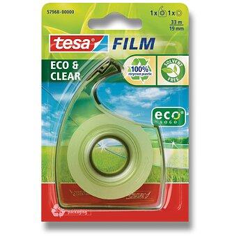 Obrázek produktu Lepící páska s odvíječem Tesa Film EcoClear - šíře 19 mm, návin 33 m
