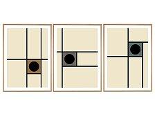 Plakát v dubovém rámu Rune Elmegaard Studio The Line