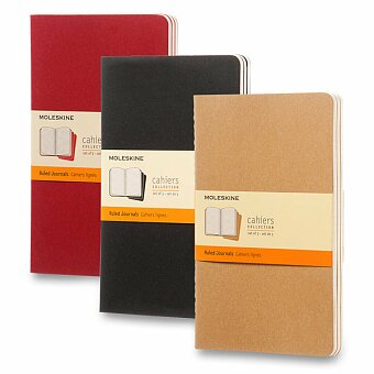 Obrázek produktu Notes Moleskine Cahier - tvrdé desky - L, linkovaný, 3 ks, výběr barev
