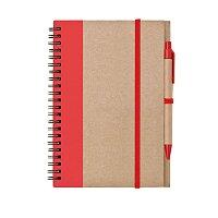 LIBRO A5 - zápisník s tužkou, výběr barev