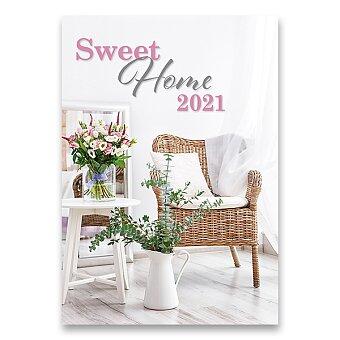 Obrázek produktu Nástěnný obrázkový kalendář Sweet Home 2021 - 14 listů, 45 x 31,5 cm