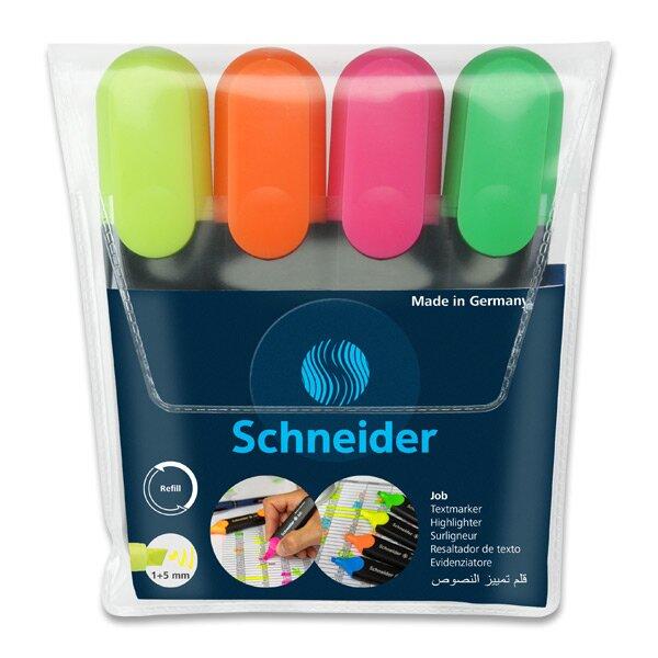 Zvýrazňovač Schneider Job sada 4 barev