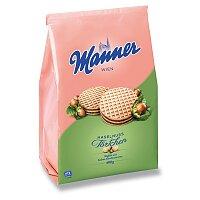 Dortíky s lískooříškovou a kakaovou náplní Manner