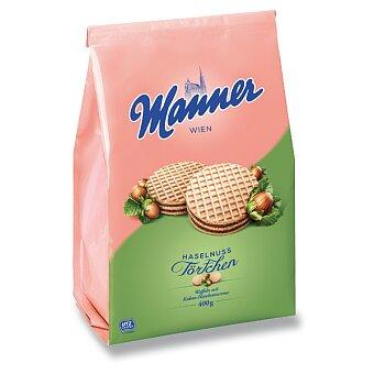 Obrázek produktu Dortíky s lískooříškovou a kakaovou náplní Manner - 400 g