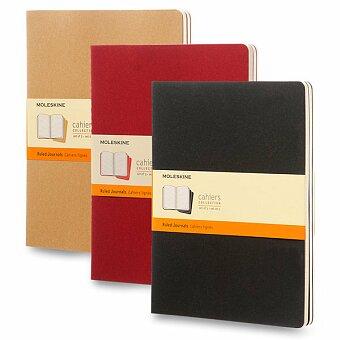 Obrázek produktu Notes Moleskine Cahier - tvrdé desky - XL, linkovaný, 3 ks, výběr barev