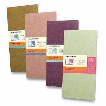 Obrázek produktu Notes Moleskine Chapters s rozdělovníkem - tvrdé desky - slim S, linkovaný, výběr barev