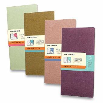 Obrázek produktu Notes Moleskine Chapters s rozdělovníkem - tvrdé desky - slim M, linkovaný, výběr barev