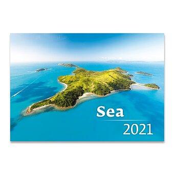 Obrázek produktu Nástěnný obrázkový kalendář Sea 2021 - 14 listů, 45 x 31,5 cm