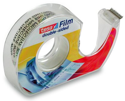 Obrázek produktu Oboustranná lepicí páska Tesa Film - 12 mm x 7,5 m s odvíječem
