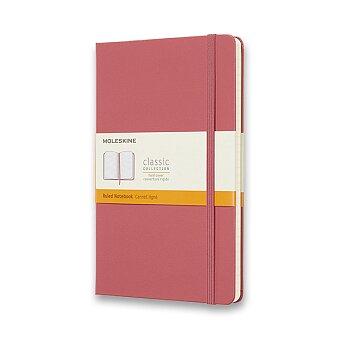 Obrázek produktu Zápisník Moleskine - tvrdé desky - L, linkovaný, růžový