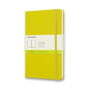 Obrázek produktu Zápisník Moleskine - tvrdé desky - L, čistý, žlutozelený
