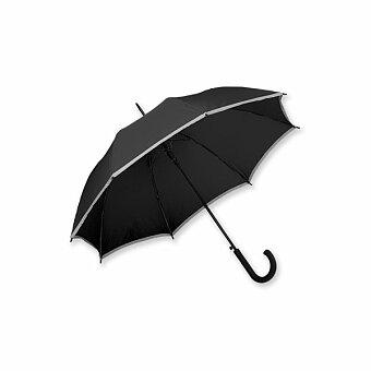 Obrázek produktu MEGAN - polyesterový vystřelovací deštník s reflexním pruhem, výběr barev