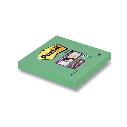 Obrázek produktu 3M Post-it 654 Super Sticky - silně lepicí bloček - 76 × 76 mm, 90 l., zelený