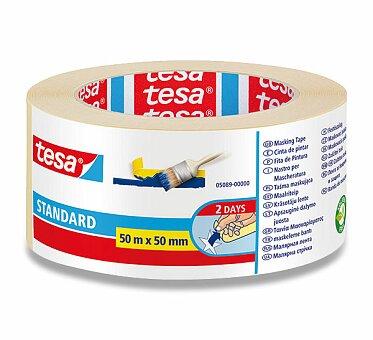 Obrázek produktu Maskovací samolepící páska Tesa Masking Tape - šíře 50 mm, návin 50 m