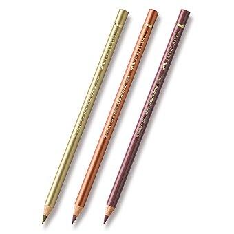 Obrázek produktu Pastelka Faber-Castell Polychromos - hnědé a metalické odstíny - výběr barev