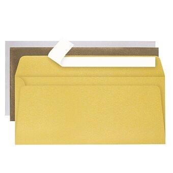 Obrázek produktu Obálka Clairefontaine zlatá, stříbrná - DL, samolepicí, 20 ks