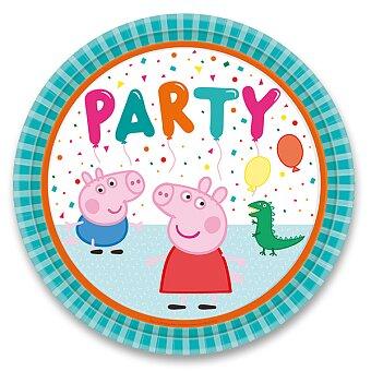 Obrázek produktu Papírové talířky Peppa Pig - průměr 22,8 cm, 8 ks