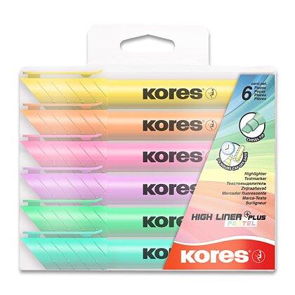 Obrázek produktu Kores High Liner Plus - zvýrazňovač - pastel, 6 barev