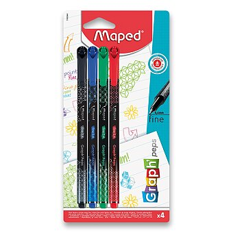 Obrázek produktu Liner Maped Graph´Peps Deco - 4 ks, základní barvy