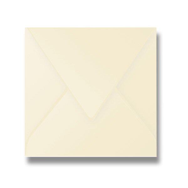 Barevná obálka Clairefontaine krémová, 165 × 165 mm