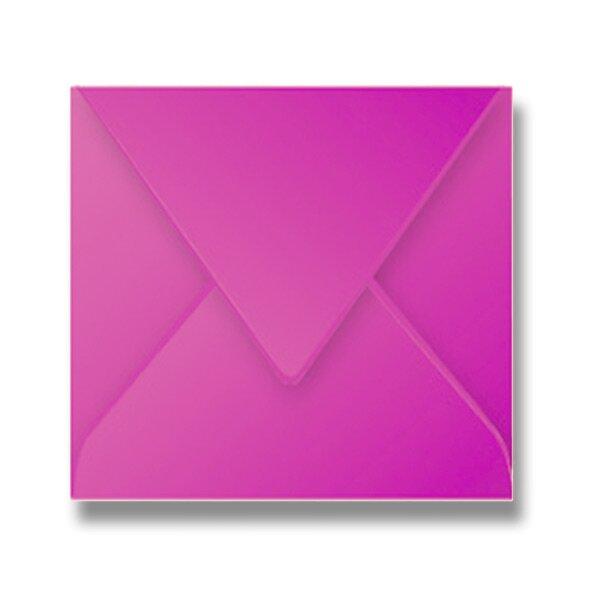 Barevná obálka Clairefontaine růžová, 165 × 165 mm