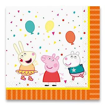 Obrázek produktu Papírové ubrousky Peppa Pig - 33 x 33 cm, 16 ks