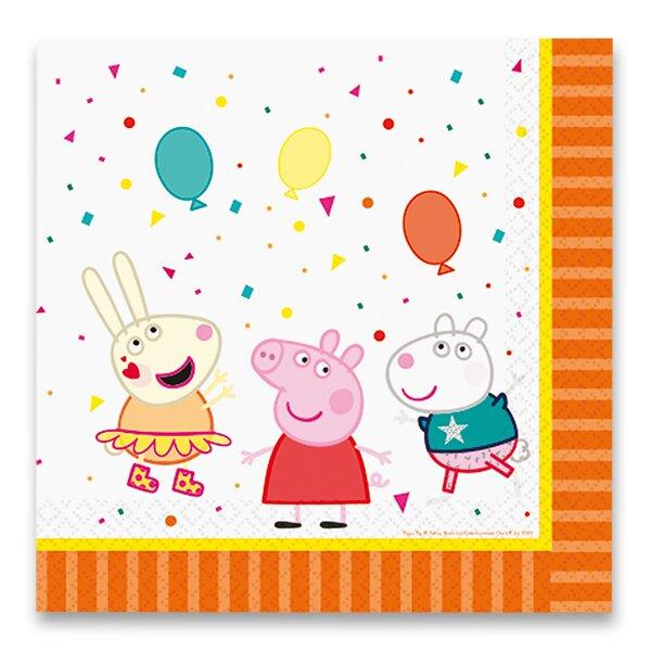 Papírové ubrousky Peppa Pig 33 x 33 cm, 16 ks