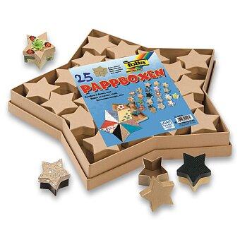 Dárkové krabičky Folia hvězdy - přírodní, 25 ks