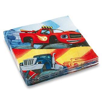 Obrázek produktu Papírové ubrousky Blaze & the Monster Machine - 33 x 33 cm, 20 ks