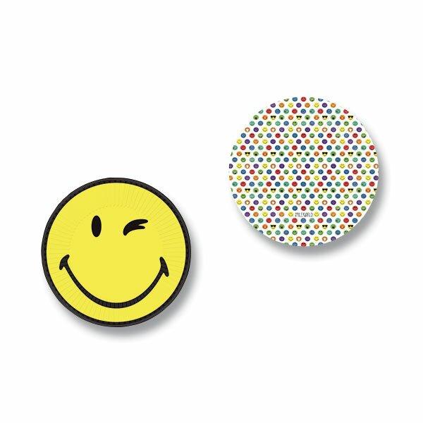 Papírové talířky Smiley World průměr 23 cm, 8 ks