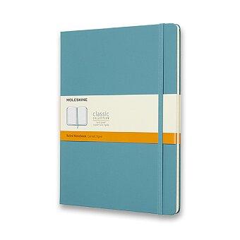 Obrázek produktu Zápisník Moleskine - tvrdé desky - XL, linkovaný, tyrkysový