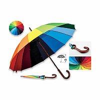 DUHA - polyesterový manuální deštník, 16 panelů