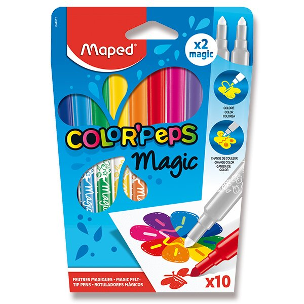Fixy Maped Color´Peps Magic 8 + 2 kusů