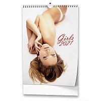 Nástěnný obrázkový kalendář Girls 2021