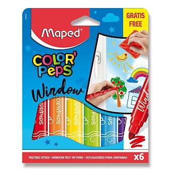 Obrázek produktu Fixy Maped Window na sklo - 6 barev + hadřík