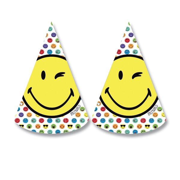 Narozeninové kloboučky Smiley World 8 ks