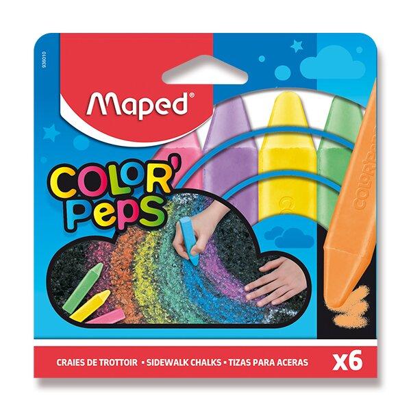 Křídy na chodník Maped 6 barvy