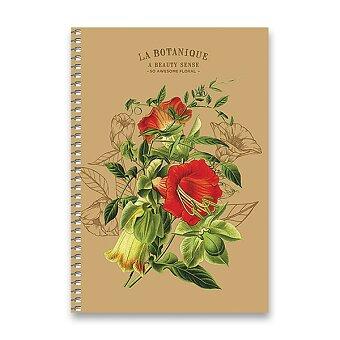 Obrázek produktu Kroužkový blok Shkolyaryk Nature - A5, čistý, 96 listů, mix motivů