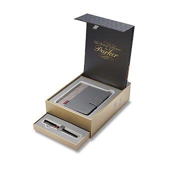 Obrázek produktu Parker Royal Ingenuity Deluxe Black PVD - 5TH, dárková sada se zápisníkem
