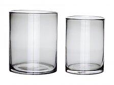 Skleněná váza Hübsch Vase set 2ks