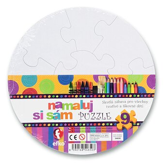 Obrázek produktu Puzzle Namaluj si sám - kruh - 9 dílků