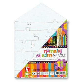 Obrázek produktu Puzzle Namaluj si sám - domeček - 11 dílků
