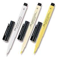 Popisovač Faber-Castell Pitt Artist Pen Brush - žluté a oranžové odstíny