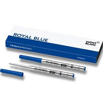 Obrázek produktu Náplň Montblanc do kuličkové tužky - F, 2 ks, royal blue