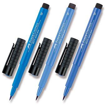 Obrázek produktu Popisovač Faber-Castell Pitt Artist Pen Brush - modré odstíny - výběr barev
