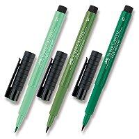 Popisovač Faber-Castell Pitt Artist Pen Brush - zelené odstíny