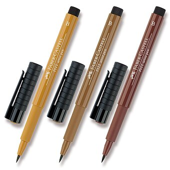 Obrázek produktu Popisovač Faber-Castell Pitt Artist Pen Brush - hnědé a metalické - výběr barev